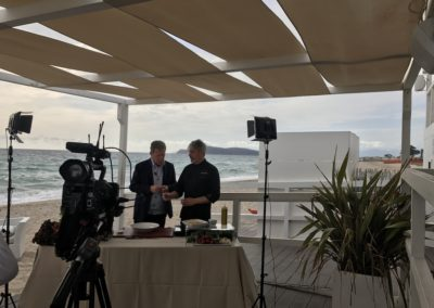Gioacchino Bonsignore ( Mediaset) Paccheri e curcuma + cooking show con lo Chef Marcello Putzu 1