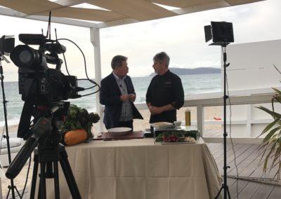 Gioacchino Bonsignore ( Mediaset) Paccheri e curcuma + cooking show con lo Chef Marcello Putzu 3