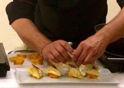 Gioacchino Bonsignore ( Mediaset) Paccheri e curcuma + cooking show con lo Chef Marcello Putzu 4